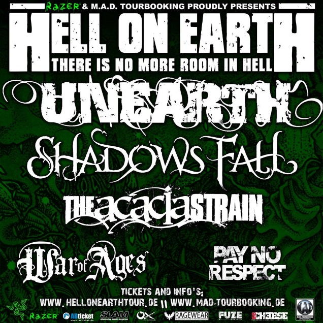 Hell On Earth Tour flyer