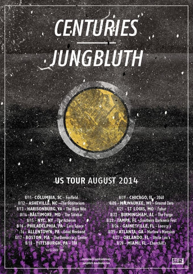 CENTURIES us tour with JUNGBLUTH