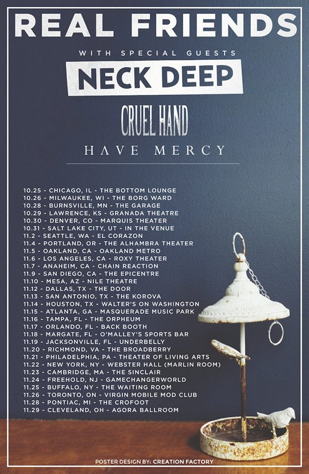CRUEL HAND with REAL FRIENDS