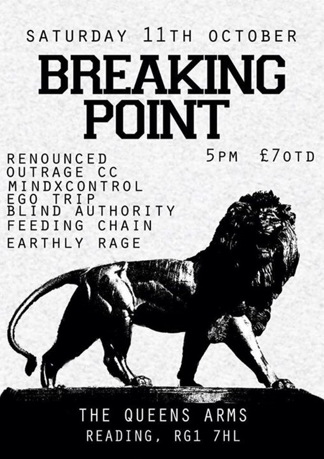 BREAKING POINT Reading date in October