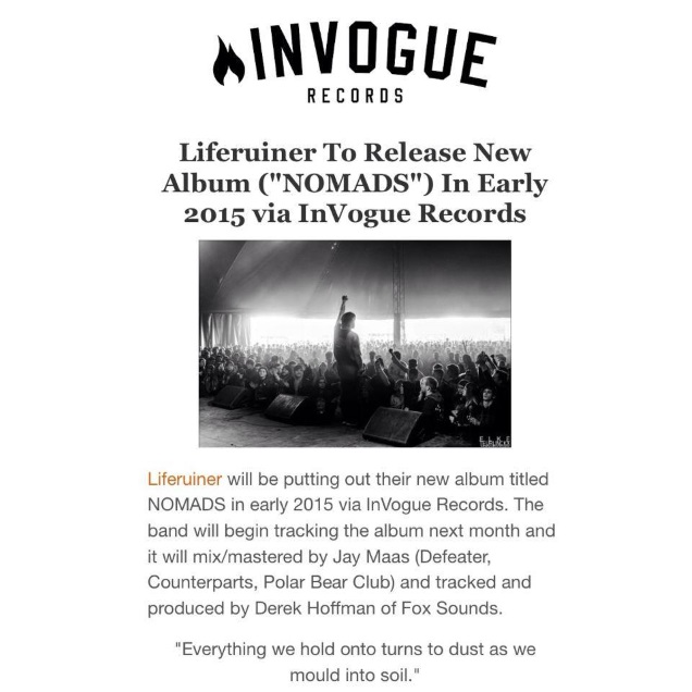 InVogue Records announcement