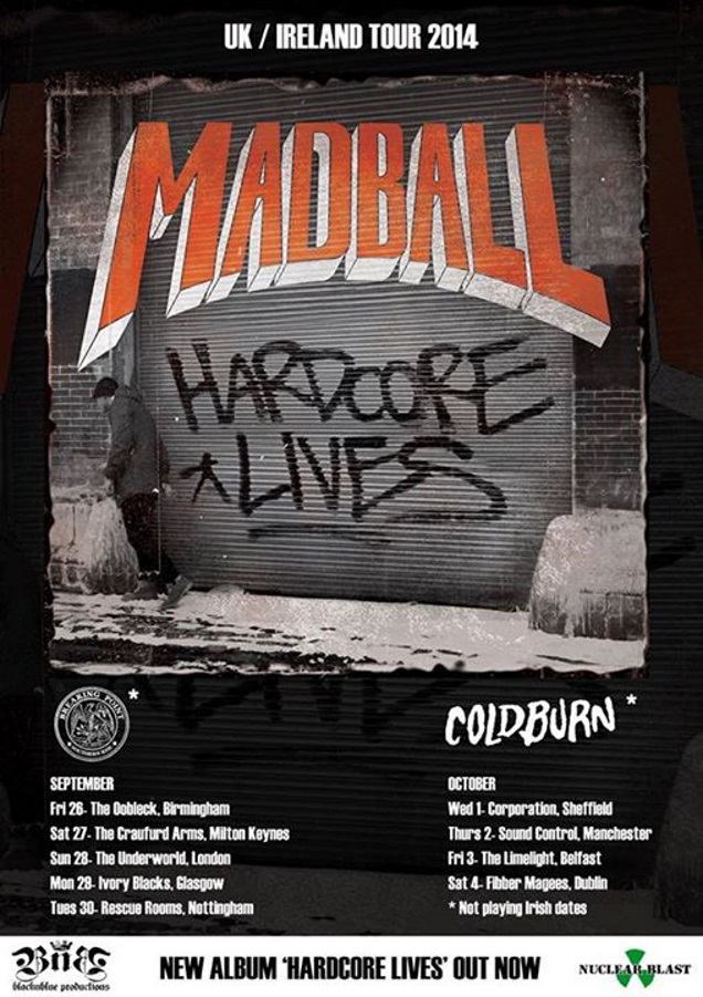 MADBALL and BREAKING POINT UK tour