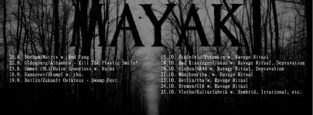 MAYAK on tour