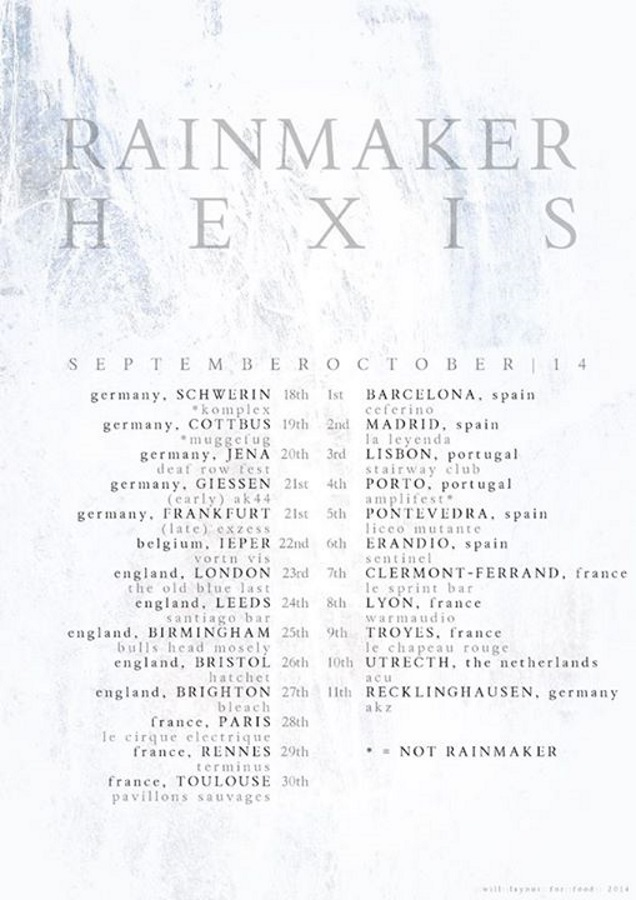 RAINMAKER and HEXIS on tour