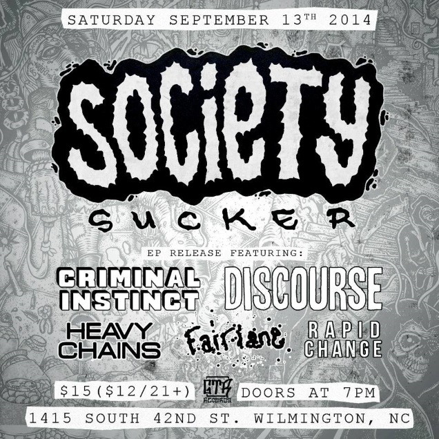 SOCIETY SUCKER EP release show