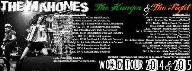 THE MAHONES tour