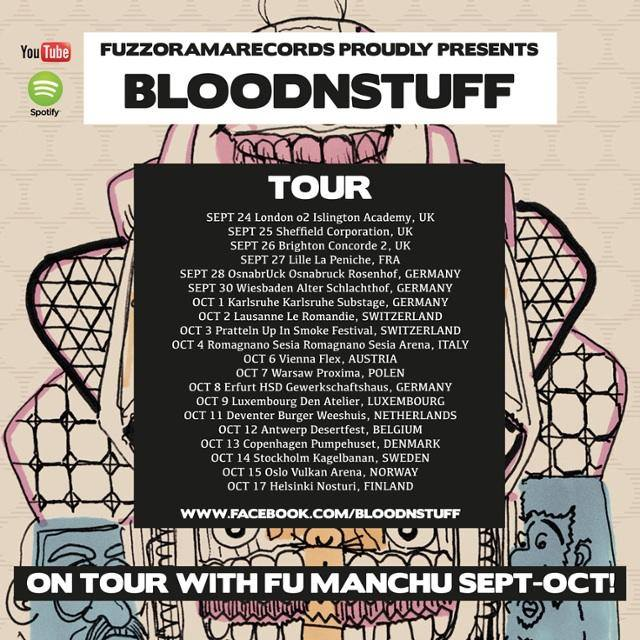 BLOODNSTUFF on tour