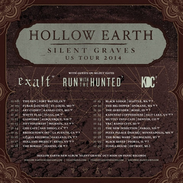HOLLOW EARTH on tour
