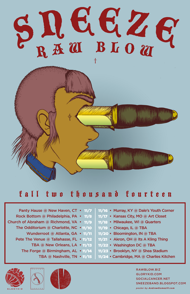 SNEEZE tour dates