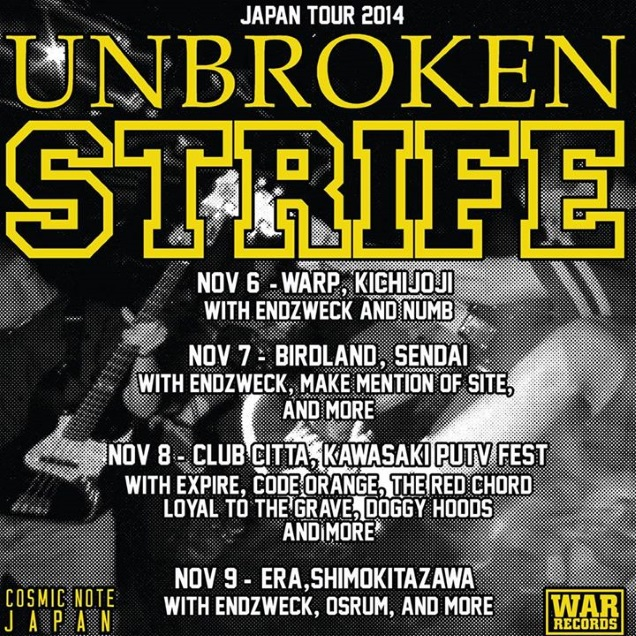 STRIFE and UNBROKEN on tour
