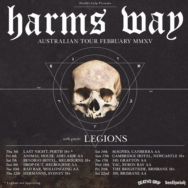 HARMS WAY with LEGIONS