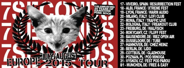 7 SECONDS Euro dates