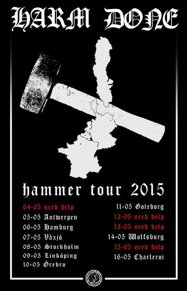 HARM DONE on tour