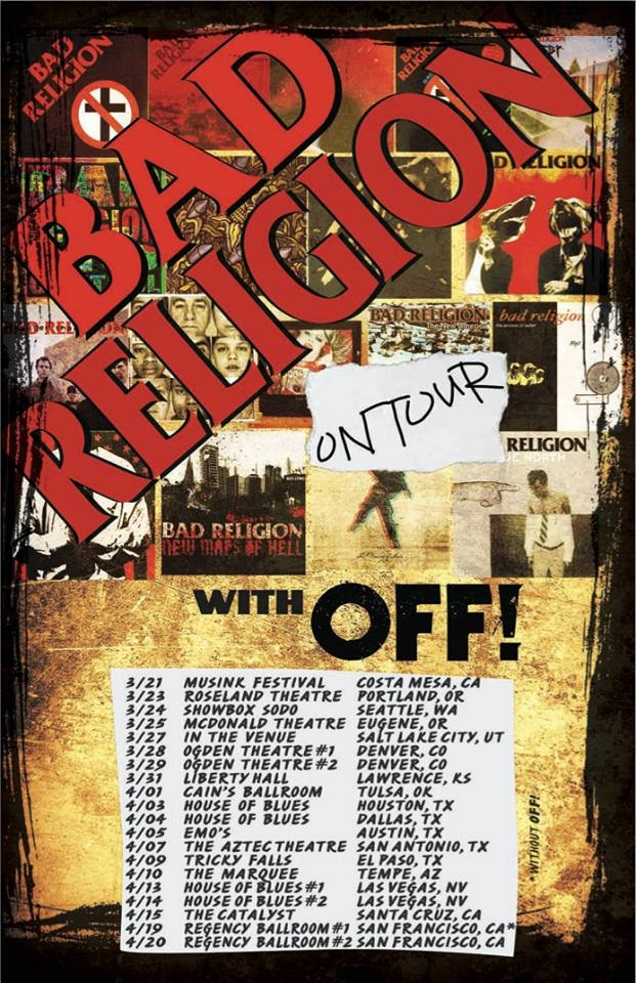 BAD RELIGION on tour with OFF!