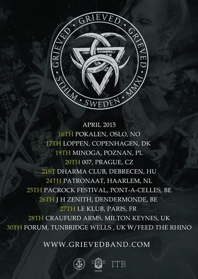 GRIEVED tour dates