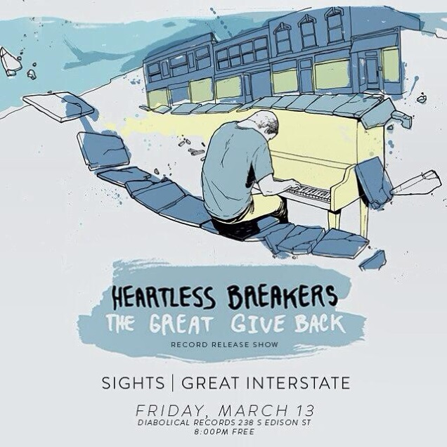 HEARTLESS BREAKERS record release show