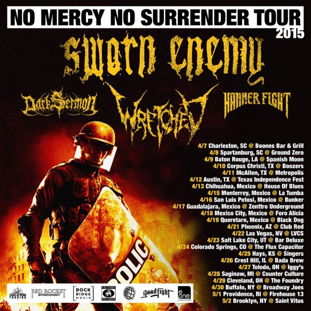 SWORN ENEMY tour dates