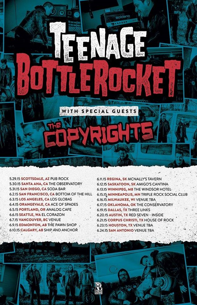 TEENAGE BOTTLEROCKET dates