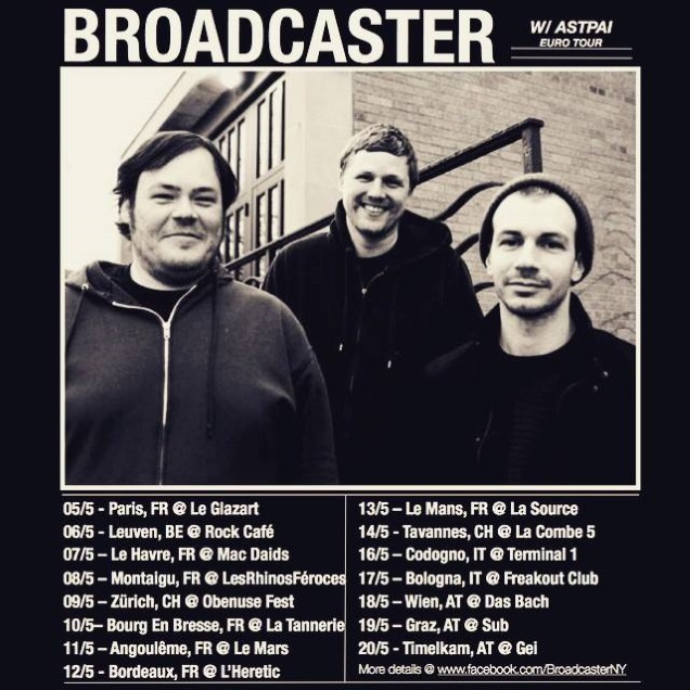 BROADCASTER on tour