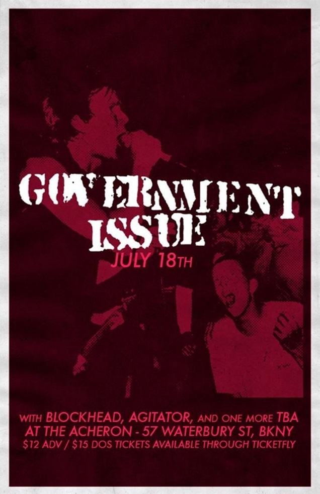 GOVERNMENT ISSUE gig