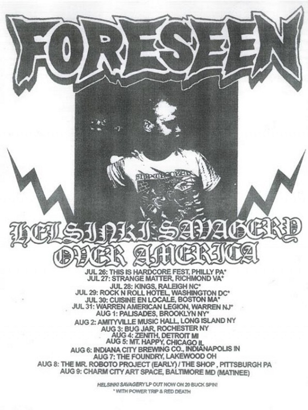 FORESEEN tour