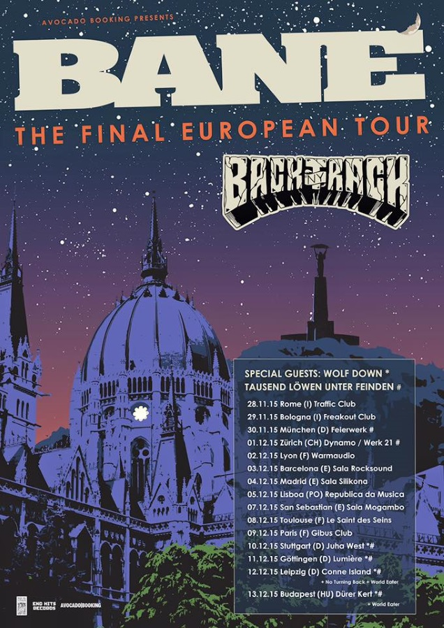 BANE tour dates with BACKTRACK