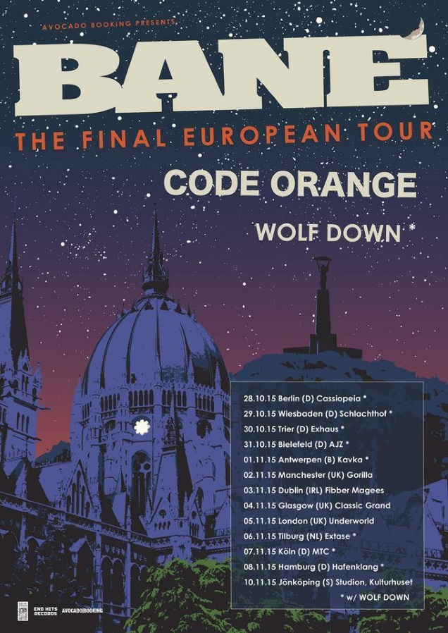 BANE tour dates with CODE ORANGE