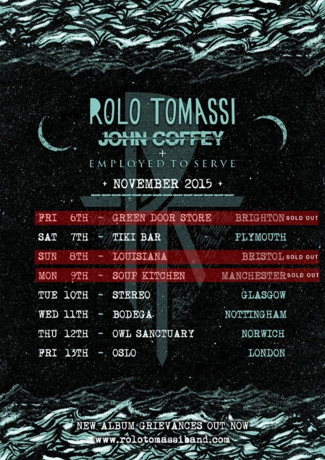ROLO TOMASSI on tour