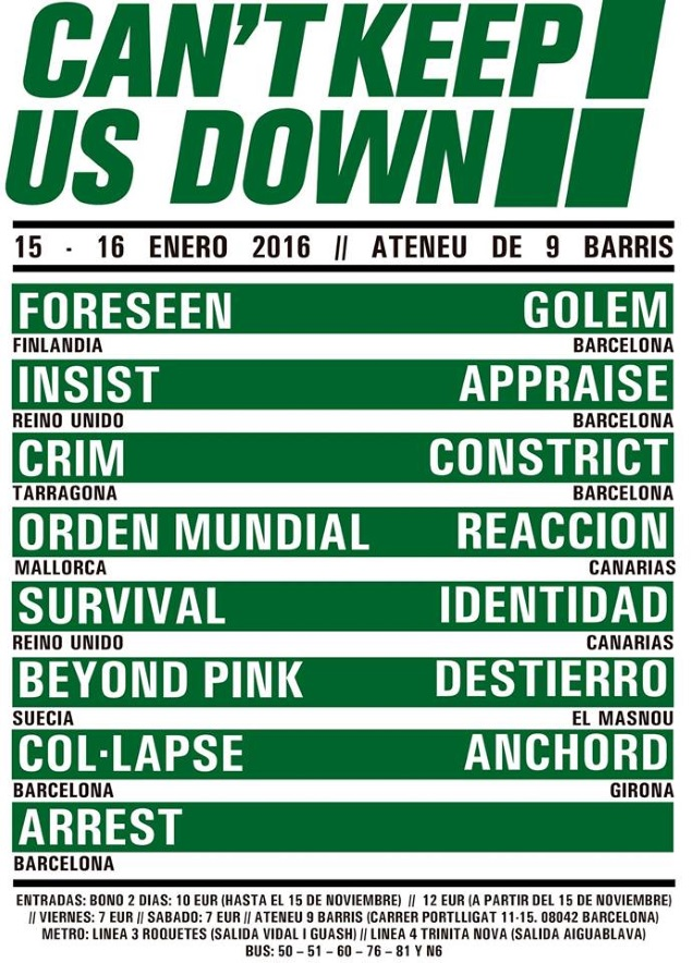 Cant Keep Us Down fest