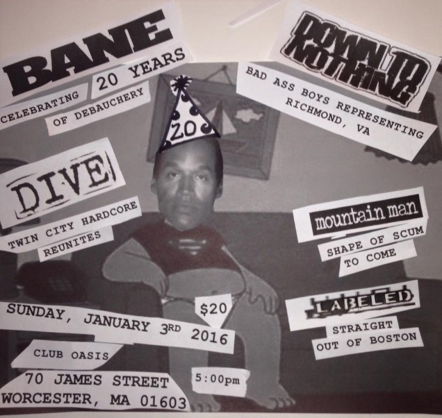 BANE 20th shows
