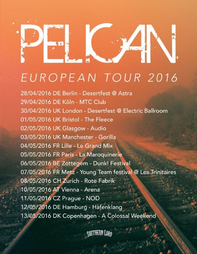 PELICAN tour dates