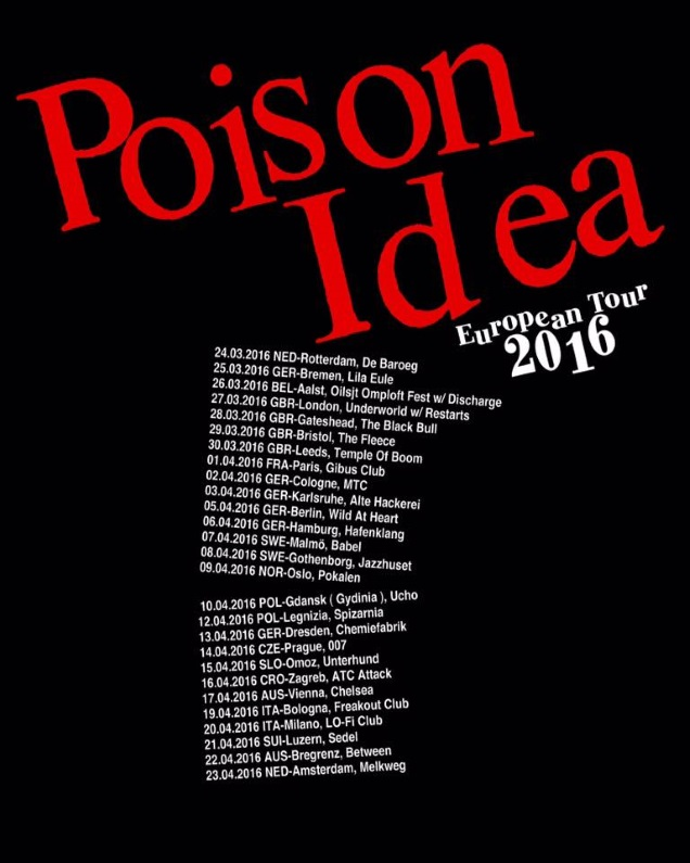 POISON IDEA tour