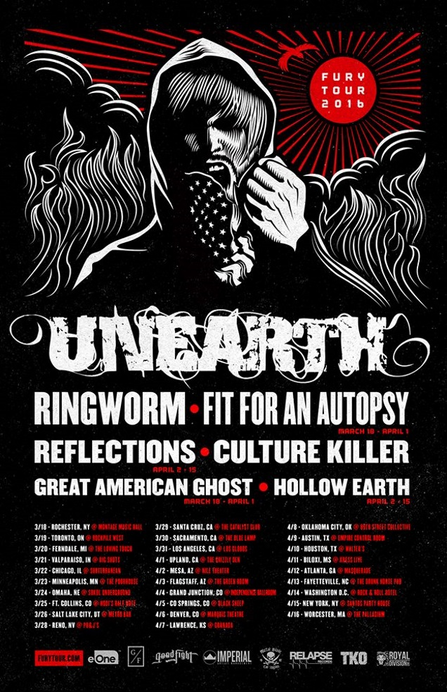 UNEARTH on tour