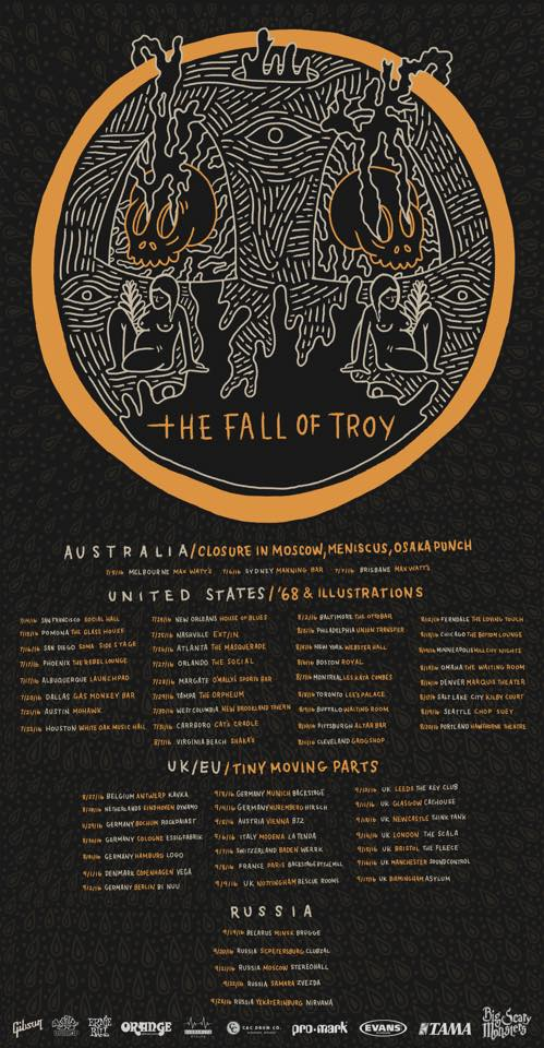 FALL OF TROY dates