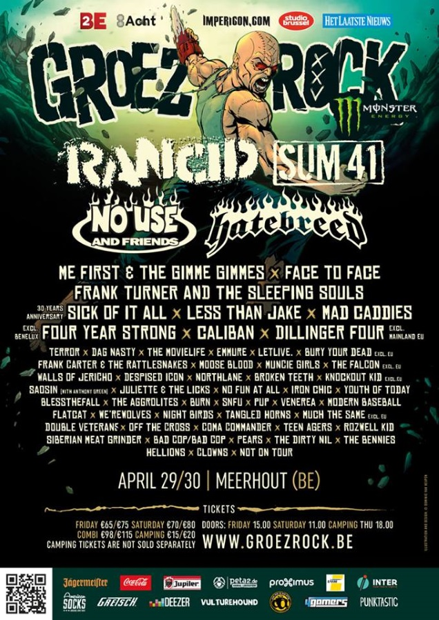 Final Poster of Groezrock