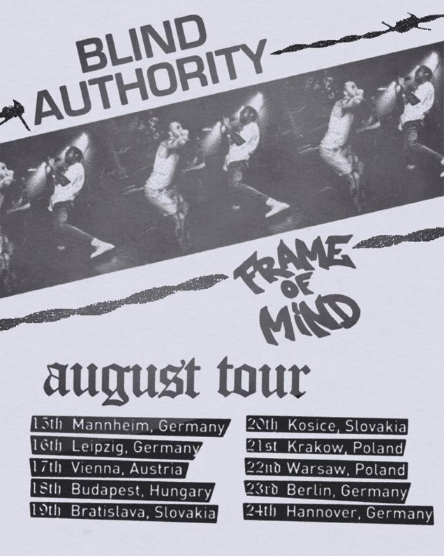 BLIND AUTHORITY dates
