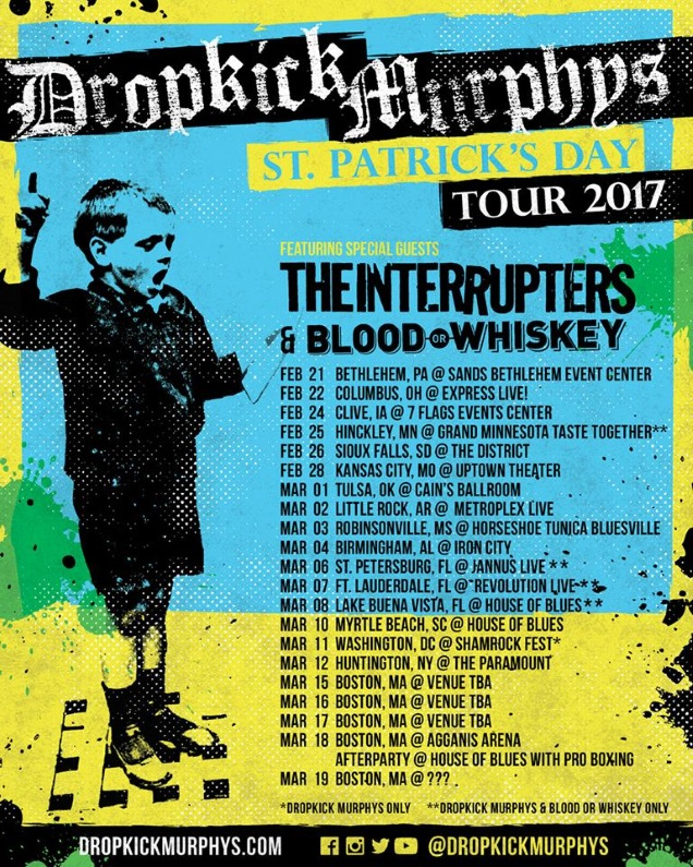 DROPKICK MURPHYS live shows
