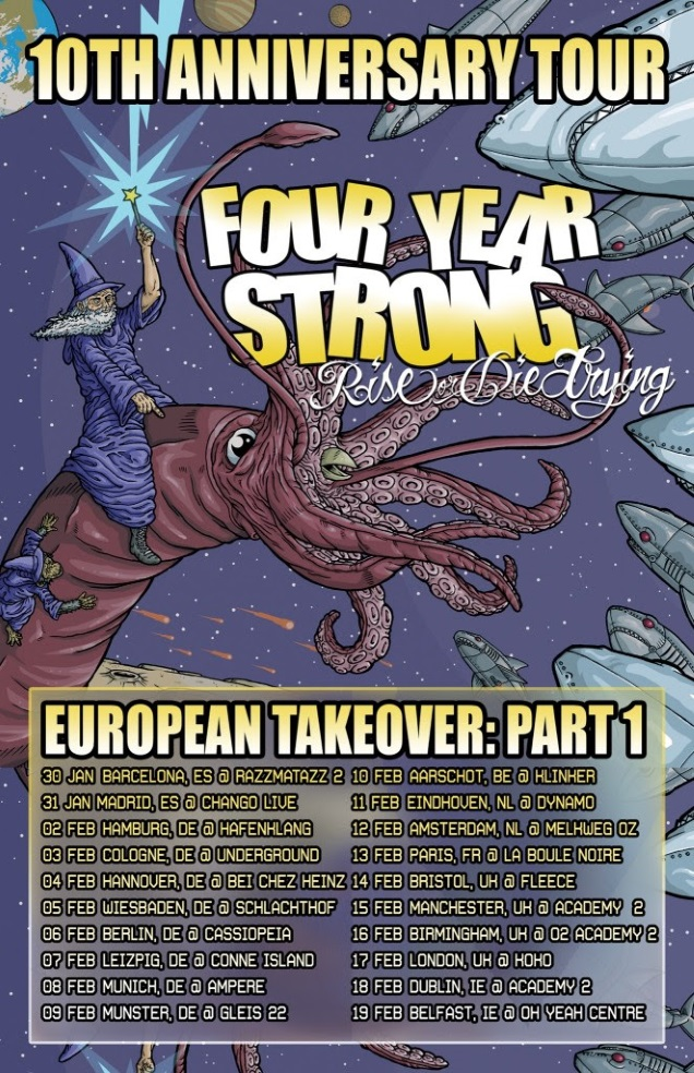FOUR YEAR STRONG UE tour