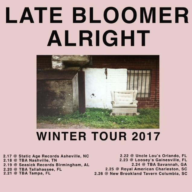 LATE BLOOMER dates
