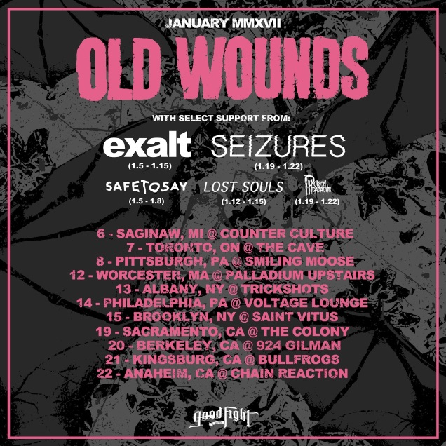 OLD WOUNDS tour dates