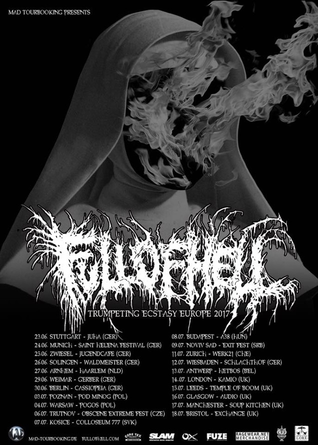 FULL OF HELL Euro Tour