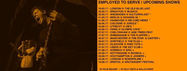 EMPLOYED TO SERVE tour dates