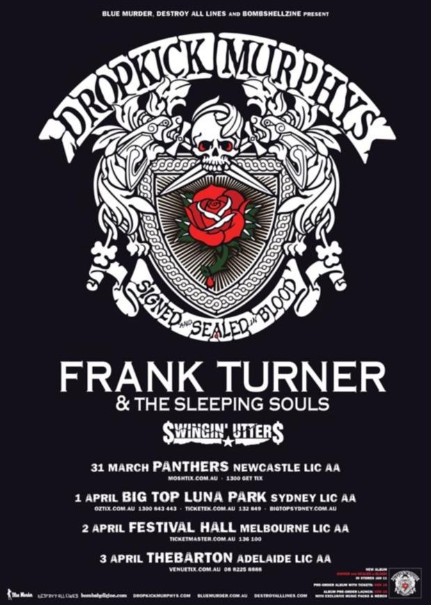 Alabama tour dates in Sydney