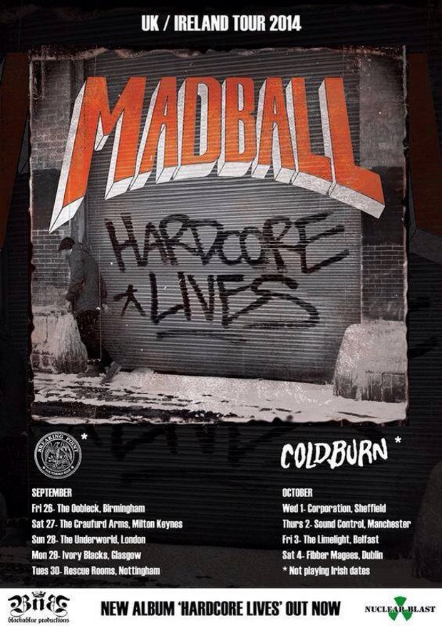 MADBALL on tour in the UK