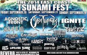 East Coast Tsunami Fest 2014 details