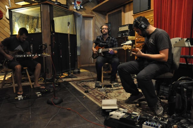 WHALE FALL recording session