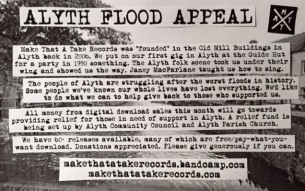 DIY punk rock record label/collective from Scotland releases the ALYTH FLOOD APPEAL!