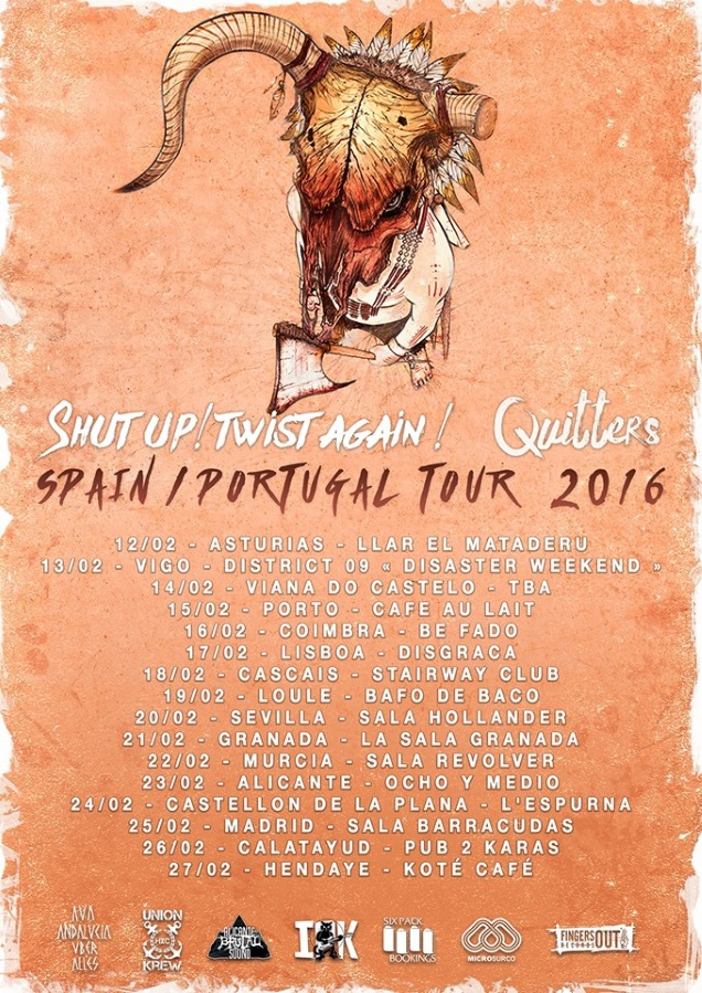 Montpellier punk rock act quitters touring spain and for Sala hollander