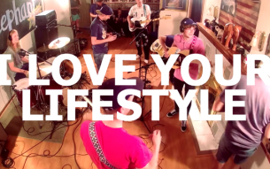 Mathy emo act I LOVE YOUR LIFESTYLE perform live for Little Elephant