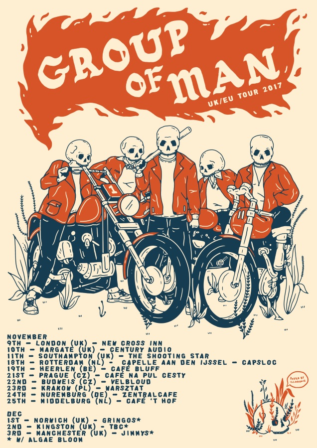 British post hardcore act group of man touring europe in for Europe in november